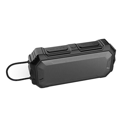 h Lautsprecher Kabellose Portabler 12W Lautsprecher Box mit 24 Stunden Spielzeit & Dual-Treiber Wireless Speakers mit Mikrofon und Reinem Bass für Zuhause, im Freien, Reisen ()