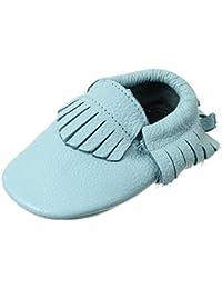 V-SOL Zapatos De Primeros Pasos Para Bebé Unisex Suaves Cuero Con Flecos