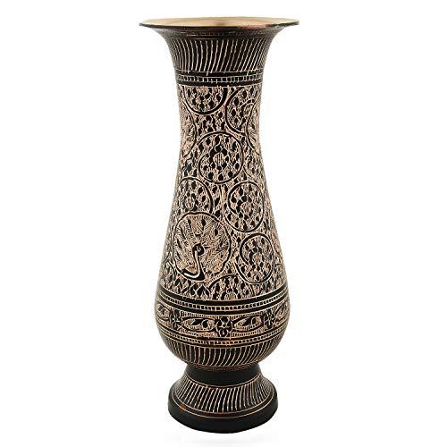 Zap Impex ® latón Flores Jarrón Carving Trabajo