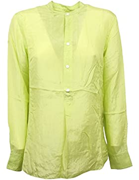 C5396 camicia donna RALPH LAUREN seta lime shirt woman