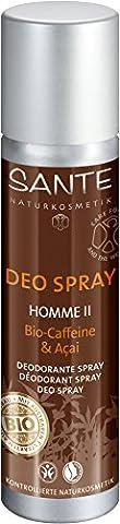 SANTE - Homme II Deospray Bio-Caffeine & Acai - Lang anhaltende Frische - Milde Formulierung - Leichte Zitrus-Noten - 100 ml