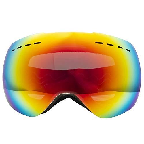 Aienid Sportbrille Fahrrad Herren Weiß Schneebrille Winddichter Augenschutz Size:18.5X8.5CM