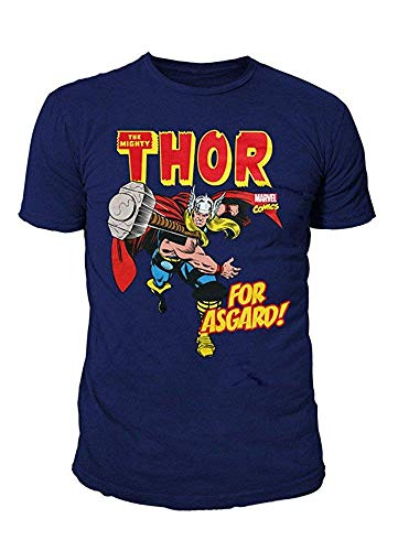 Marvel Comics - Thor Herren T-Shirt - for Asgard (Navy) (S-XL) ()