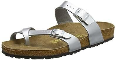 Birkenstock Mayari Sandal,Silver,36 N EU