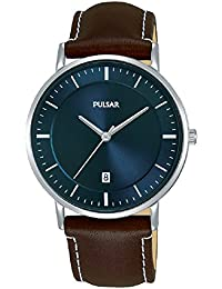 Pulsar Herren-Armbanduhr Analog Quarz Leder PG8257X1