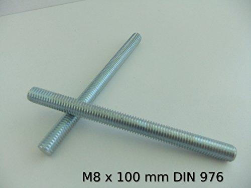 100 X Gewindestücke DIN976A M6x60 Eisen glanzverzinkt Gewindestangen