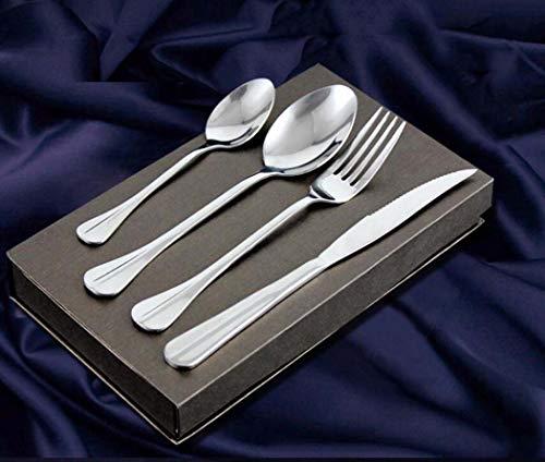 CY&Y Ustensiles De Table Western en Acier Inoxydable Ensemble Couteau Et Fourchette De Bifteck De Quatre-Pièce De Couteau Et Cuillère À Fourche