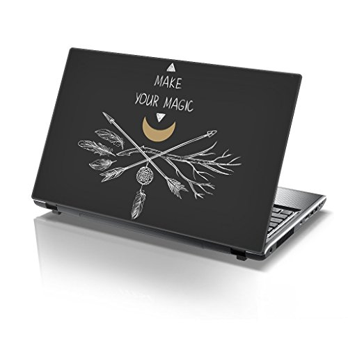 TaylorHe 39,6cm 38,1cm Notebook Skin Vinyl Aufkleber mit farbigen Mustern und Leder Effekt Laminat hergestellt in England Make your Magic