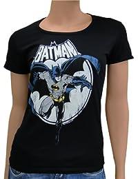Batman-full moon logoshirt tee t-shirt pour femme taille s (noir)
