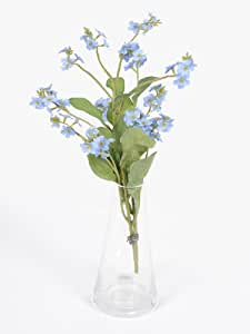 Artificial Blue Forget me Not Wild Flowers Tied Bunch Bundle Posy 50 Heads by MaxJam