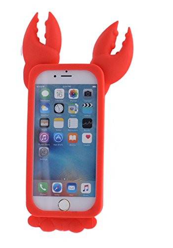 "iPhone6/6S 4.7"" Hülle, BENKER Hochwertig Schlagfeste und Kratzfeste Weich Silikon Kreativ 3D Cartoon Telefon Fall - Panda Red Lobster"