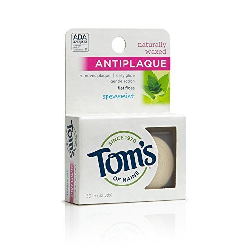 toms-of-maine-natural-waxed-antiplaque-flat-floss-spearmint-32-yards-pack-of-6-by-toms-of-maine
