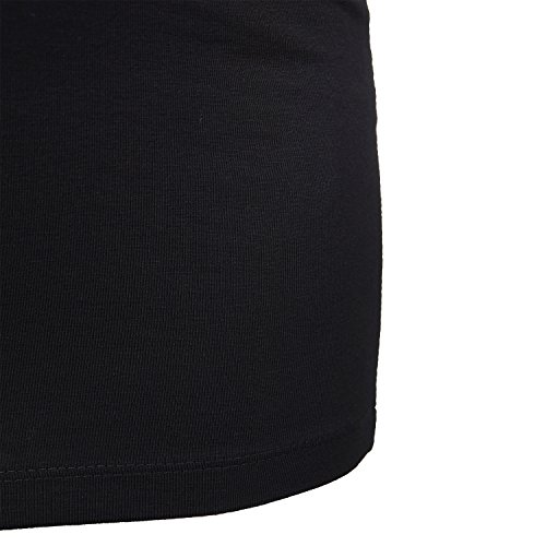 ShirtWorld - Babyhände Zwillinge - Damen Stretch T-Shirt Extralang Schwarz