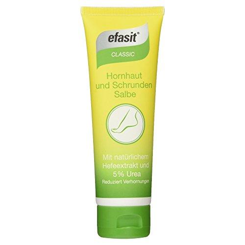 Efasit Classic Hornhaut und Schrunden Salbe mit Hefeextrakt und 5% Urea, 75 ml