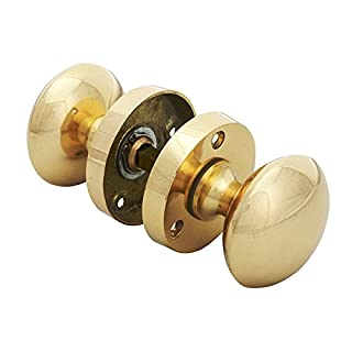 Forge 56 x 58mm Mortice Knob Set with Brass Finish