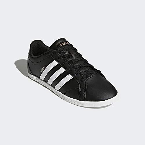 adidas Damen Coneo QT Sneaker, Mehrfarbig (Black 001), 38 2/3 EU - Adidas Leder Schuhe