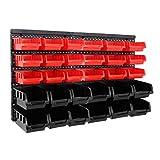 32tlg Stapelboxen Wandregal Set   Werkstatt Lager Schraubenbox   Werkstattregal Lagerregal   Box Sortimentskasten Regal   Regalsystem Steckregal