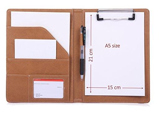 klemmbrettmappe A5 klemmbrett A5 schreibmappe mit klemmbrett konferenzmappe a5 (Braun)