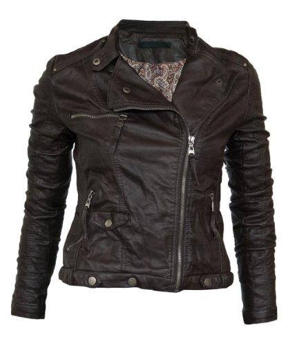 Leichte Damen Lederjacke in vielen Farben Biker Style Vegan Leder Nieten