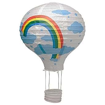 40 6 cm wei hot air ballon papier laterne deckenleuchte schatten beleuchtung. Black Bedroom Furniture Sets. Home Design Ideas