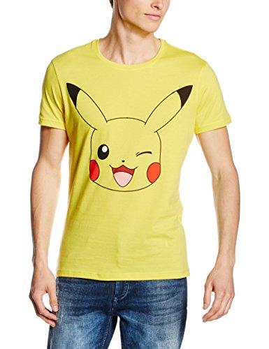 Oficial-Mens-Pokemon-Guio-Diseo-Pikachu-Yellow-t-Shirt