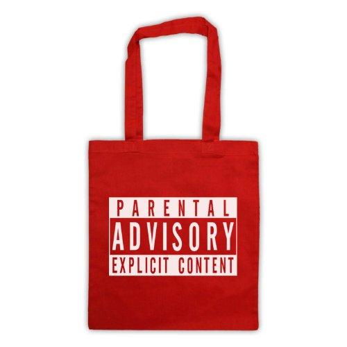 Parental Advisory-Borsa, motivo: aforismi [lingua inglese] Rosso