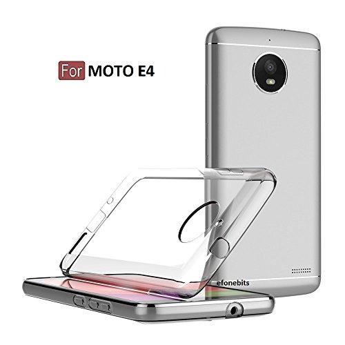 Efonebits(TM) Transparent Premium Soft Silicone Back Case Cover for Motorola Moto E4