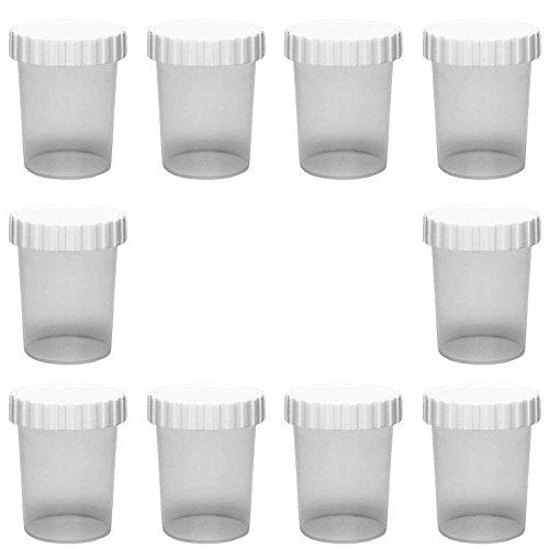 10 x kleine Dose 50 ml Becher aus Kunststoff mit Schraubverschluss, Tiegel Lebensmittelecht, BPA-frei (Farbe Proben)