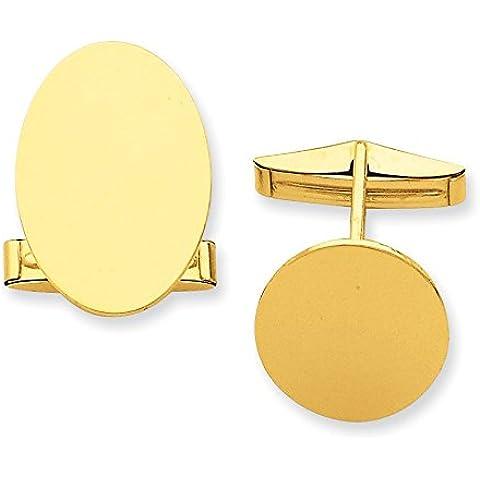 14ct Oro ovale Gemelli
