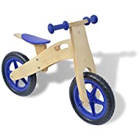 vidaXL Kids Children Wooden Balance Running Bike First Training Cycle Boy Girl Red/Blue