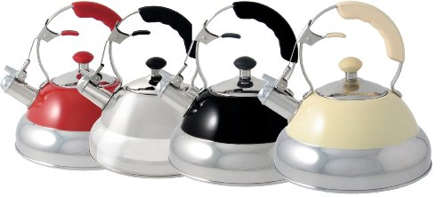 Wesco Classic Line Stainless Steel 2 Litre Stove Top Kettle, Black