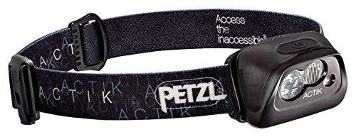Petzl Erwachsene Actik Stirnlampe, Black, One Size