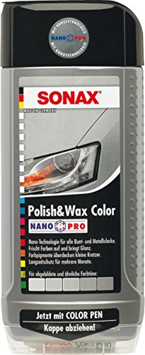 SONAX 296300 Polish & Wax Color NanoPro silber/grau, 500 ml