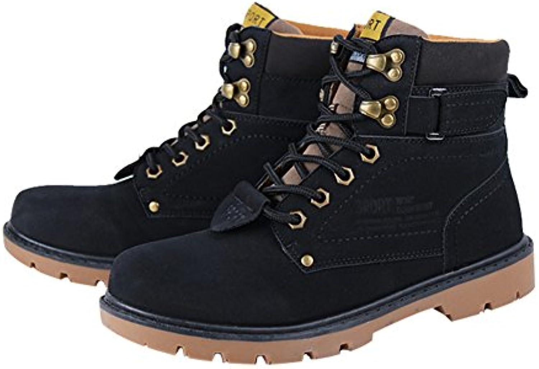 Herren Martin Stiefel Freizeitschuhe Herbst Winter Komfort Winter Schuhe Kurzschaft Stiefel  Stiefeletten Schwarz 44