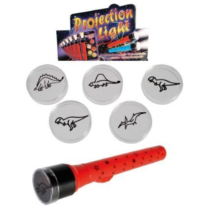 Childs Dinosaur Projection Torch Light with 6 Projection Designs - Boys Perfect Ideal Christmas Stocking Filler Gift Present