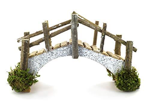 Ferrari & arrighetti ponte in sughero e assi di legno - bertoni presepe linea natale