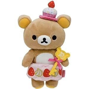 Peluche Rilakkuma ours brun en gâteau cupcake