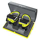 CCYOO TWS Wireless Stereo Bluetooth Kopfhörer Wasserdicht Sport Headset mit Mikrofon 2000 Mah Backup Batterie Box Zealot H10,Yellow