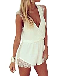 SAMGU Femme Sexy Combinaison Robe Playsuit lace rompers womens jumpsuit
