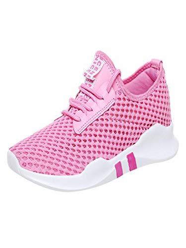 HDUFGJ Damen Sneaker Laufschuhe Straßenlaufschuhe Sportschuhe leicht Walkingschuhe Netzoberfläche Atmungsaktiv freizeitschuhe40(Rosa)