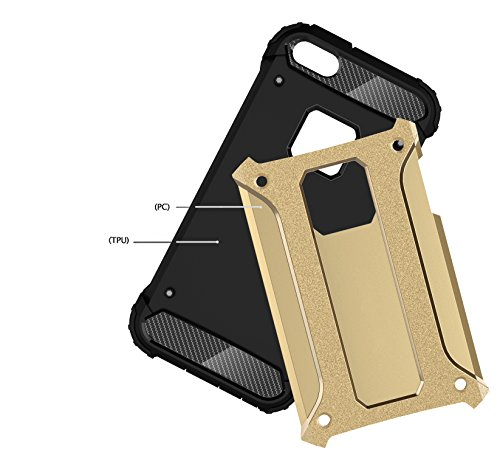 KIO iPhone 6S Custodia – [angoli rinforzati] Heavy Duty protezione Custodia Morbido in gomma & Hard PC Cover flessibile Shock Absorption ammortizzatori per iPhone 6/iPhone 6S iPhone 6 / iPhone 6S P-3 P-6
