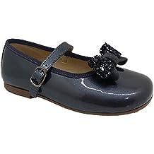 Clarys 1083 - Merceditas infantil niña lazo, color odeon gris picaro nogal