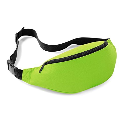 BAGBASE NEW BUM BAG BELT BAG 8 GREAT COLOURS - LIME by BagBase (Purse Hip Bag)