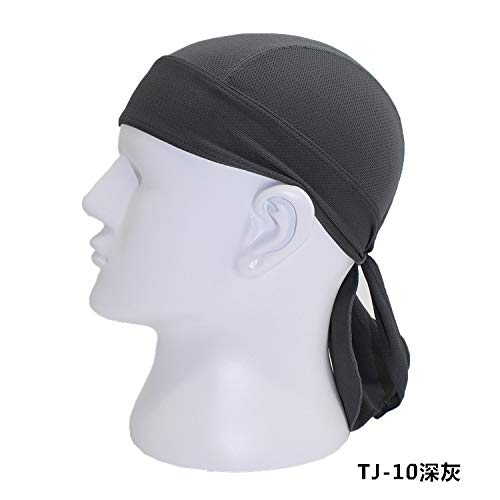 Egurs Sport Kopftuch schnell trocknend Piratenstirnband Bandana Caps für Frauen Herren Radfahren Klettern Angeln Wandern Motorradfahren Laufen grau grau
