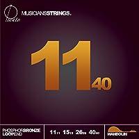 Picato 96585 Phosphor Bronze 1140 Loop End Mandolin Strings, Set of 8 Pieces