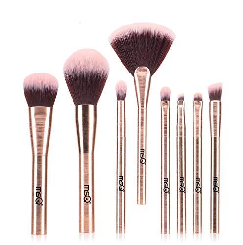 MSQ Make-up Pinsel Set 8pcs Kosmetik Pinsel Premium Synthetische Puderpinsel Contour Lidschatten...