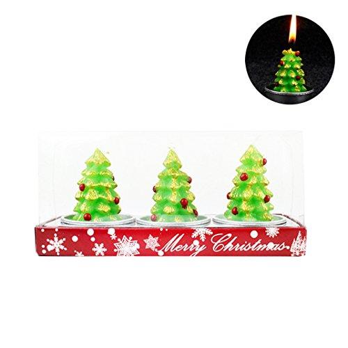 3 PCS Weihnachten Kerze,Moon mood® Weihnachtsdekoration Christmas Decoration - Weihnachtskerzen Weihnachtsbaumkerze für Dekorieren Weihnachtsbäume,Weihnachtskränze,Rattan,Weihnachten Festive Party Supplies