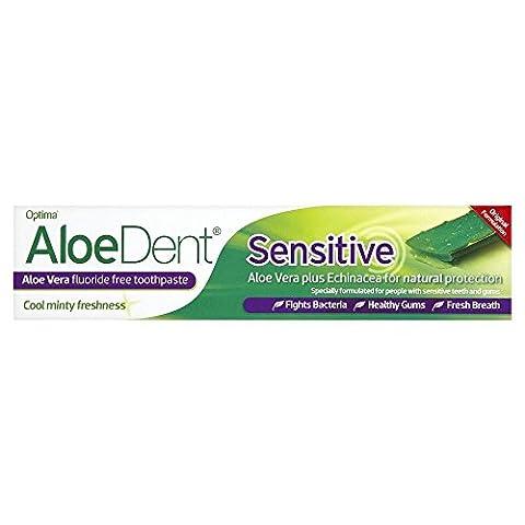 AloeDent 100 ml Sensitive Aloe Vera Fluoride Free Toothpaste