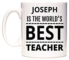 Idea Regalo - JOSEPH IS THE WORLD'S BEST TEACHER Tazza di WeDoMugs
