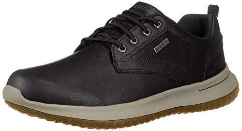Skechers Men's DELSON-Antigo Oxfords, Black Black Blk, 7 UK 41 EU